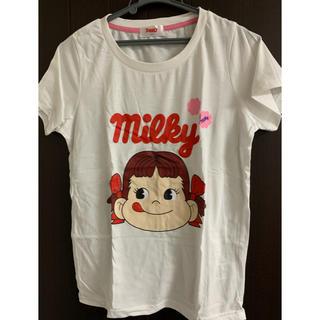 フジヤ(不二家)のMilky ペコちゃんTシャツ Mサイズ(Tシャツ(半袖/袖なし))