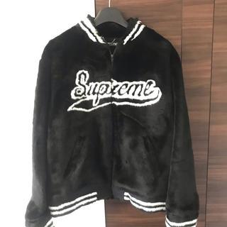 シュプリーム(Supreme)の 新品XL★ supreme  faux fur varsity jacket (ブルゾン)