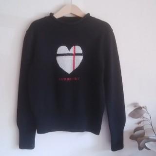 BURBERRY - BURBERRY♡140ハイネックウールセーター黒