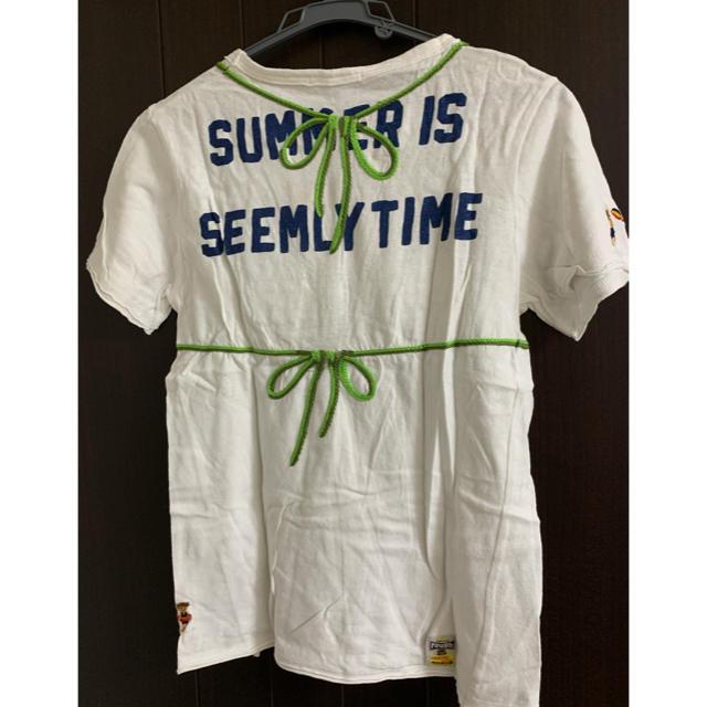 rough(ラフ)のrough ラフ ビキニ刺繍Tシャツ レディースのトップス(Tシャツ(半袖/袖なし))の商品写真