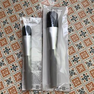MUJI (無印良品) - 無印良品 チークブラシ&リキッドファンデ用ブラシ