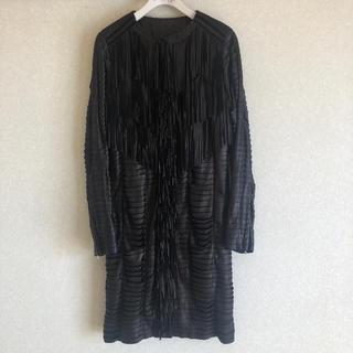 DOUBLE STANDARD CLOTHING - ゴートレザー フリンジコート