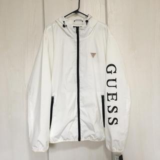 ゲス(GUESS)のGUESS XL 新品 メンズ ナイロンジャケット ウィンドブレーカー 白(ナイロンジャケット)