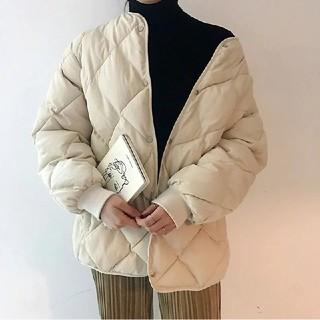 dholic - キルティング ノーカラージャケット