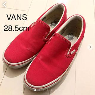 ヴァンズ(VANS)のVANS スリッポン  28.5cm レッド バンズ(スニーカー)