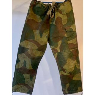 コモリ(COMOLI)の希少サイズ2 ベルギー軍 ブラッシュストロークカモ m47(ワークパンツ/カーゴパンツ)