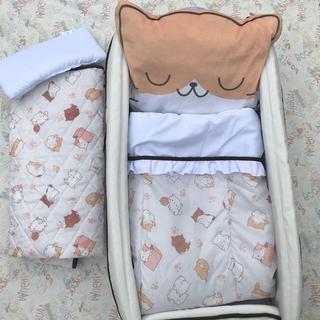 ニシマツヤ(西松屋)のポータブル ベビーベッド セット SmartAngel 子猫 新生児 持ち運び(ベビーベッド)