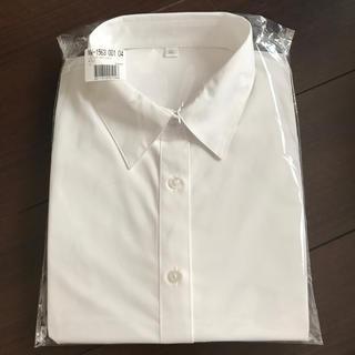 セシール(cecile)のオフィスブラウス 制服 ホワイトシャツ LL(シャツ/ブラウス(長袖/七分))