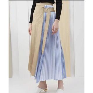 エンフォルド(ENFOLD)のELENDEEK  サイドプリーツスカート(ロングスカート)