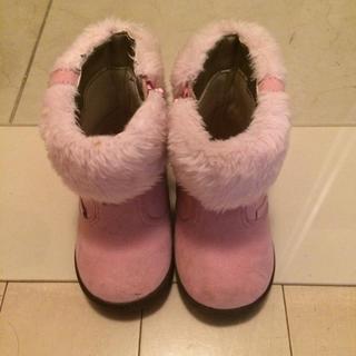ミキハウス(mikihouse)のミキハウス ブーツ 14cm ピンク(ブーツ)