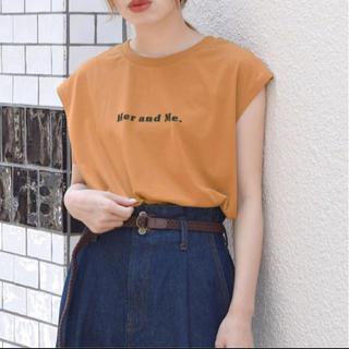 ダブルクローゼット(w closet)のwcloset  ロゴプリントノースリTee(Tシャツ(半袖/袖なし))