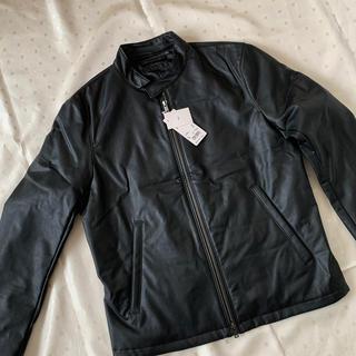ユニクロ(UNIQLO)の新品 ユニクロ メンズ ライダー ジャケット ブラック L(ライダースジャケット)