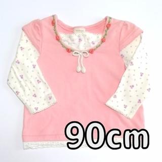 ハッシュアッシュ(HusHush)の90cm HusHusH 長袖Tシャツ 女の子(Tシャツ/カットソー)