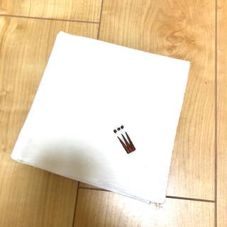 ムジルシリョウヒン(MUJI (無印良品))のどこのメーカーかで購入時に頂いた 大判ハンカチーフ ホワイト(ハンカチ)