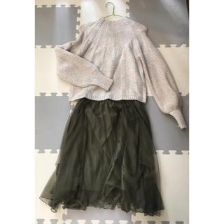 クチュールブローチ(Couture Brooch)の全色揃えたい♪ チュール フレアスカート   カーキ(ひざ丈スカート)