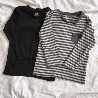 エイチアンドエム(H&M)のH&M 長袖Tシャツ(2枚セット)(Tシャツ)