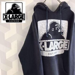 エクストララージ(XLARGE)の【 90s X-LARGE】地厚目 かなり大きめS 黒 スウェットパーカー(パーカー)