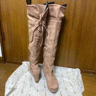 リズリサ(LIZ LISA)のリズリサ  2way編み上げロングニーハイブーツ (ブーツ)