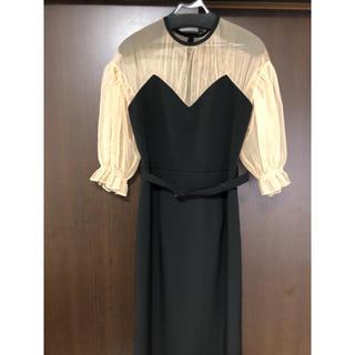 アメリヴィンテージ(Ameri VINTAGE)のアメリヴィンテージ AIRY SLEEVE TIGHT DRESS(ロングドレス)