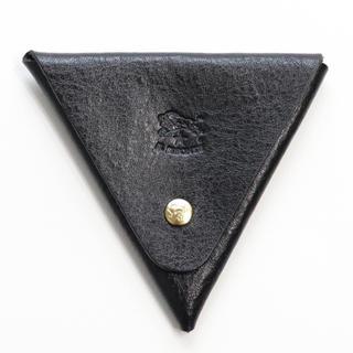 イルビゾンテ(IL BISONTE)の新品 イルビゾンテ 小銭入れ コインケース 三角形 コイン ホルダー ブラック(コインケース/小銭入れ)