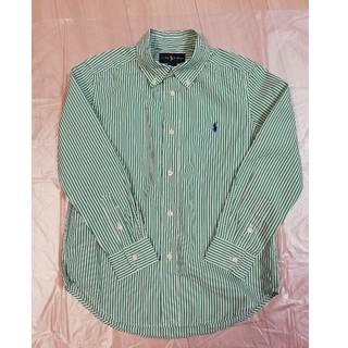 Ralph Lauren - ラルフローレン ストライプシャツ 130 長袖 緑