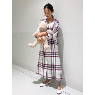 エイミーイストワール(eimy istoire)の完壳品♡ジェラート ピケ  ネルチェックロングドレス(ルームウェア)