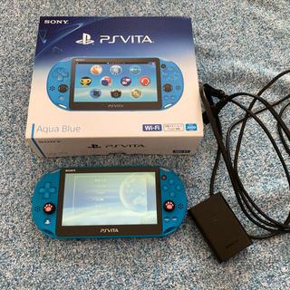 プレイステーションヴィータ(PlayStation Vita)のお値下げ!プレステvita  PCH-2000  アクアブルー(携帯用ゲーム機本体)
