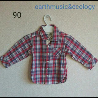 アースミュージックアンドエコロジー(earth music & ecology)のアースミュージック エコロジー 90 チェックシャツ(カーディガン)