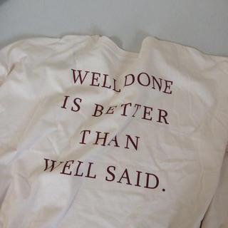 フーズフーギャラリー(WHO'S WHO gallery)の【新品】バックプリント バックロゴTシャツ ロンT ロゴ (Tシャツ(長袖/七分))
