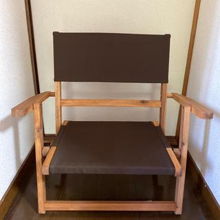 ニトリ(ニトリ)のニトリ ローチェア 2脚 ブラウン(折り畳みイス)