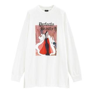 ジーユー(GU)のGUロングスリーブT(長袖)Disney2Y+E101匹わんちゃん白サイズS(Tシャツ(長袖/七分))