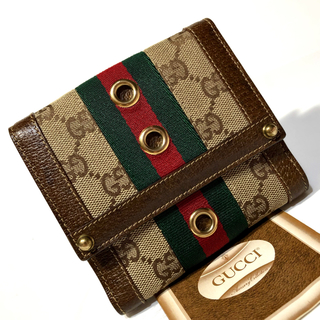 Gucci - グッチ 財布 折財布 シェリーライン/オールドグッチ 財布 折財布 シェリー