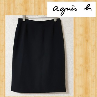 アニエスベー(agnes b.)のアニエスベー agnes b. スカート 40 ブラック(ひざ丈スカート)