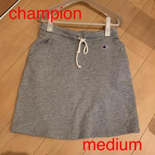 チャンピオン(Champion)の♦︎チャンピオン スウェット  ひざ丈スカート グレー(ひざ丈スカート)