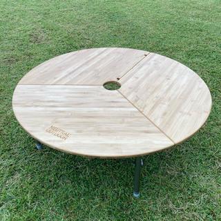 コールマン(Coleman)のニュートラルアウトドア NEUTRAL OUTDOOR バンブーラウンドテーブル(テーブル/チェア)