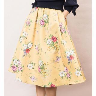ノエラ(Noela)のカラーブレンドフラワーフレアスカート(ひざ丈スカート)