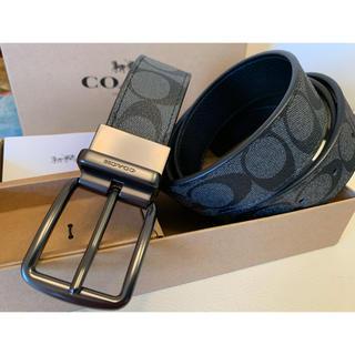 COACH - COACH メンズシグネチャーフリーサイズリバーシブルベルトセット専用BOX付き