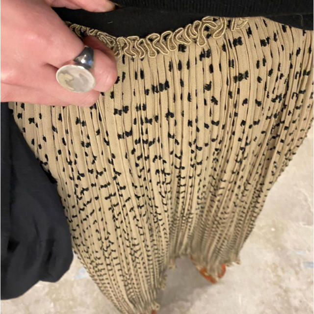STUDIOUS(ステュディオス)のCLANE    DOT JACQARD  PLEAT SKIRT☆新品タグ付き レディースのスカート(ロングスカート)の商品写真