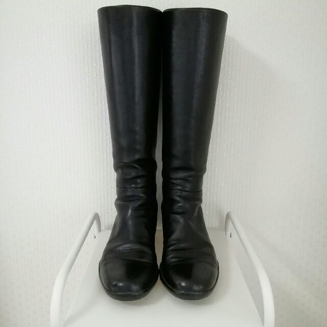 PRADA(プラダ)のプラダ ロングブーツ 36 ブラック レディースの靴/シューズ(ブーツ)の商品写真
