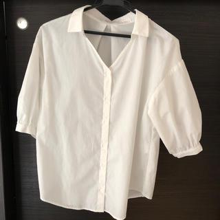 ハニーズ(HONEYS)のスキッパーシャツ Mサイズ(シャツ/ブラウス(長袖/七分))