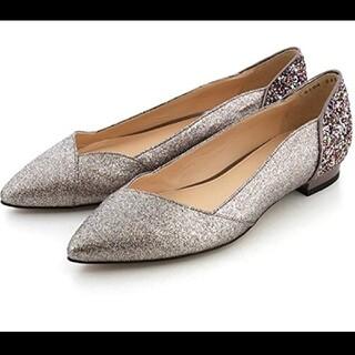 JILLSTUART - 【JILL STUART shoe】*箱付き*グリッター加工 フラットシューズ