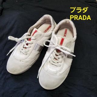 プラダ(PRADA)のPRADA プラダ本革レザースニーカー 36.5 (スニーカー)