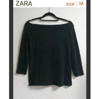 ZARA - 【美品】ZARA オフショル七分袖カットソー Mサイズ