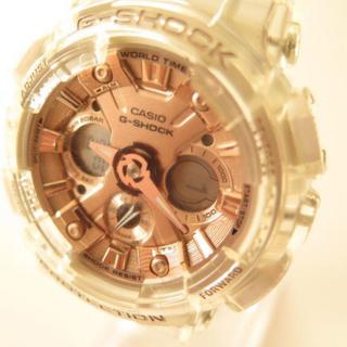 ジーショック(G-SHOCK)の美品 Casio G-Shock美品 Cas GMA-S120SR クリアピンク(腕時計(デジタル))