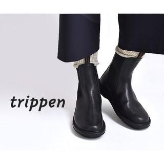trippen - trippen トリッペン★Chelsea サイドゴアショートブーツ 黒 35