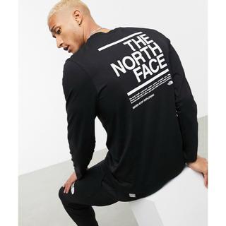 ザノースフェイス(THE NORTH FACE)の【Mサイズ】新品 THE NORTH FACE メッセージ ロンT ブラック(Tシャツ/カットソー(七分/長袖))