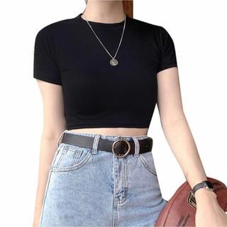 エイチアンドエム(H&M)の黒 トップス (Tシャツ(長袖/七分))