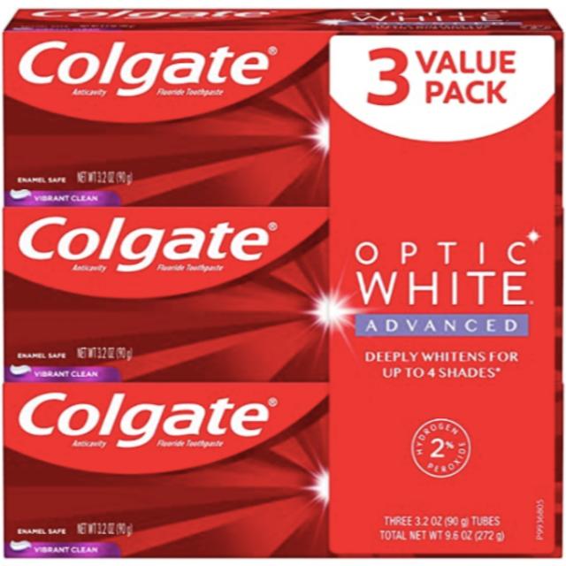 【3本】コルゲート Colgate Optic White Advanced コスメ/美容のオーラルケア(歯磨き粉)の商品写真