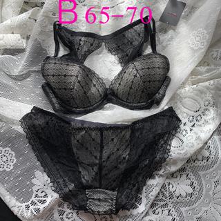 ラヴィジュール(Ravijour)の新品ラヴィジュールブラショーツセット B65-70 ブラックレース(ブラ&ショーツセット)