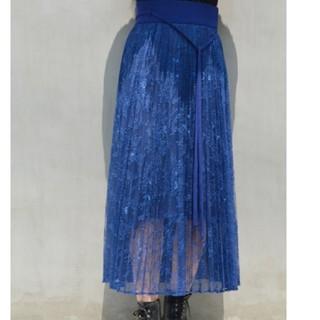 mame - mame レースプリーツスカート